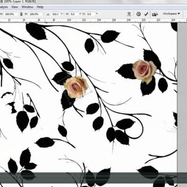 PRINT DESIGN – Cutting, transforming & making a basic print