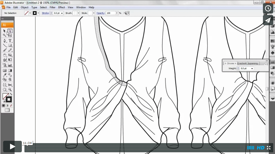 CAD & FASHION ILLUSTRATION – Adding details & trims
