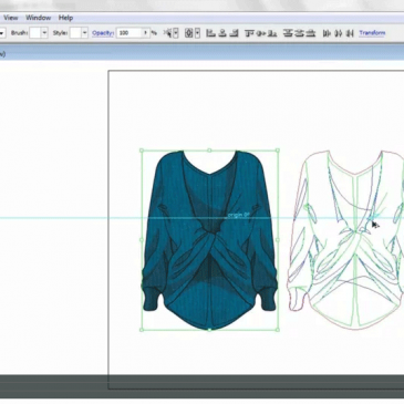 CAD & FASHION ILLUSTRATION – Applying colour, texture & shading