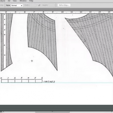 SCANNING, SCALING & DIGITISING A PATTERN FROM A BOOK