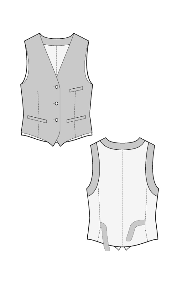 photograph relating to Printable Vest Pattern named RALPHPINK.COM - Cost-free WAISTCOAT SEWING Habit