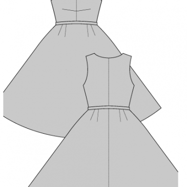 CARMEN DRESS – 1950's- Sewing Pattern