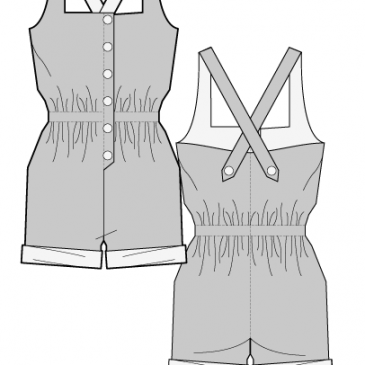 DEBRANO PLAYSUIT- Sewing Pattern