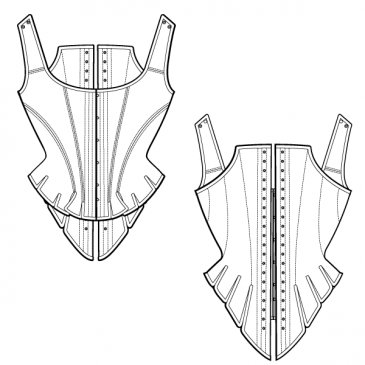 FREE CORSET PATTERN – Half Boned Stay