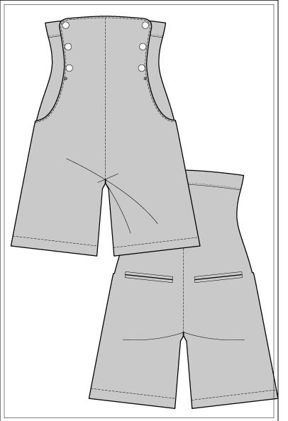 Выкройка шорт онлайн