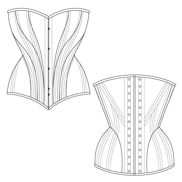 FREE CORSET PATTERN - Hip Curve Corset
